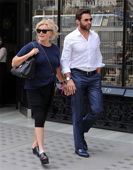 Hju Džekmen sa suprugom