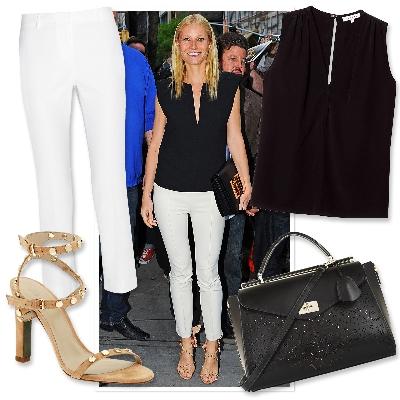 bele pantalone i crna bluza
