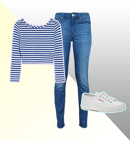 crop top majice mornarskog tipa