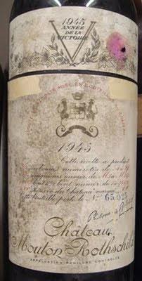 Berba 1945 Chateau Mouton-Rothschild Jeroboam vino