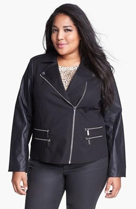 Moto jakna sa izrezom