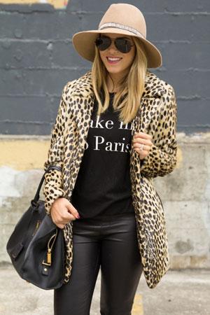 ženski kaput sa leopard printom