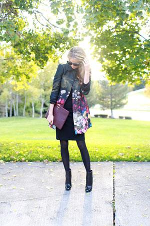 ženski kaput sa cvetnim dezenom
