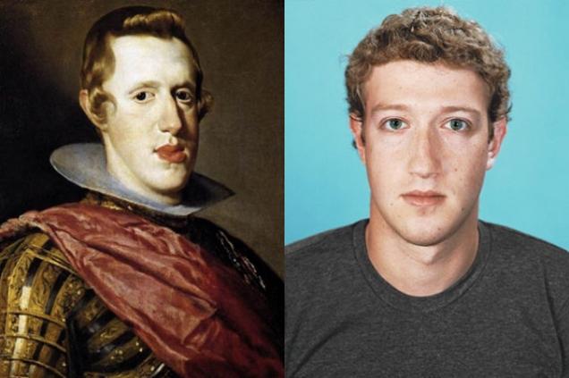 Mark Zuckerberg i portret Filipa IV
