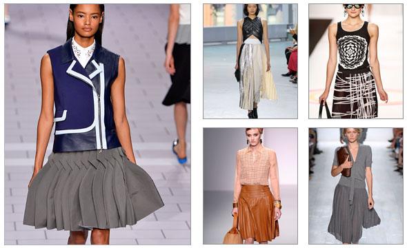 Plisirane suknje kao modni detalj