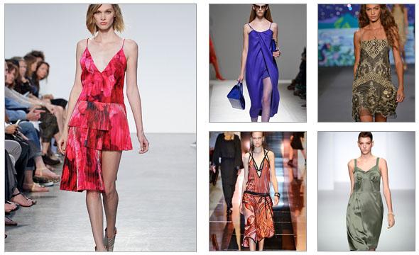 Slip haljine kao modni detalj
