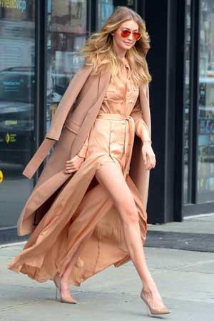 Gigi Hadid i kamel kaput