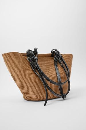 zara nova kolekcija pletena torba