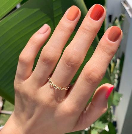 nokti za leto 2020 u bojama zalaska sunca