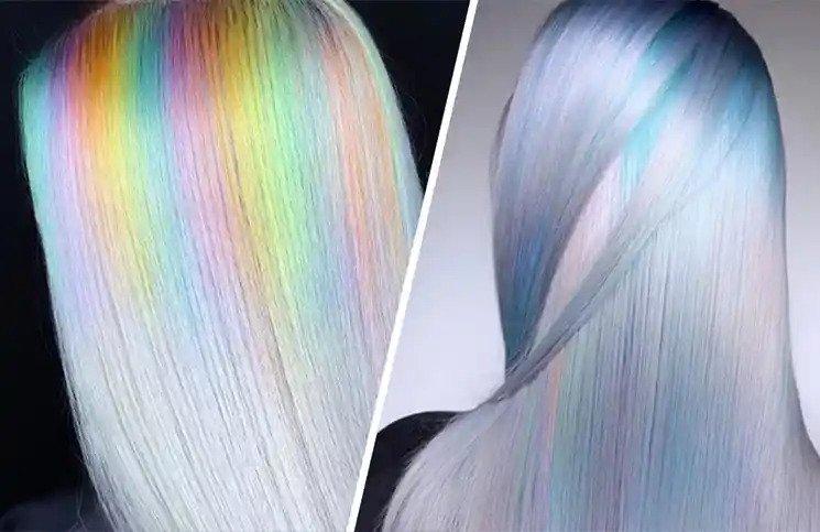 Holographic boja kose